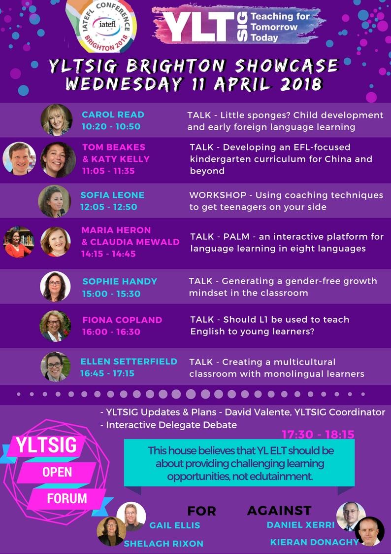 IATEFL 2018 YLTSIG PCE Showcase