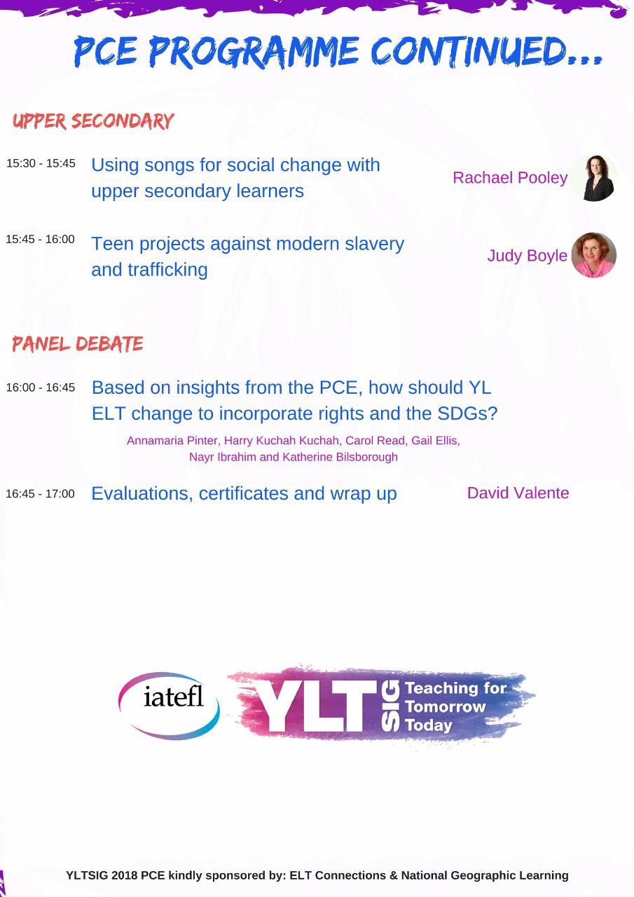 IATEFL 2018 YLTSIG PCE Programme